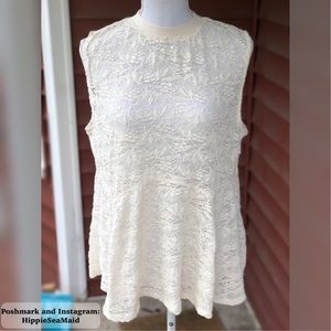 Gorgeous sheer lace tank top!